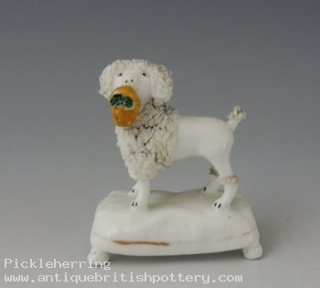 Poodle with Flower Basket