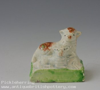 Earthenware Recumbent Ewe & Lamb