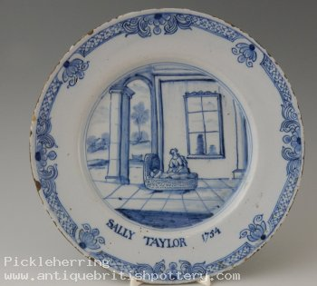 Plate Sally Taylor 1754