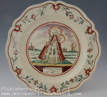Leeds Plate Dutch Decoration