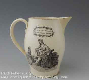 Creamware Hope Springs Eternal Jug