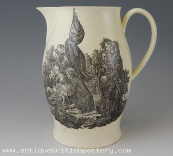 Death of Wolfe Creamware Jug